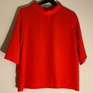 🍂 Cherry red loose blouse